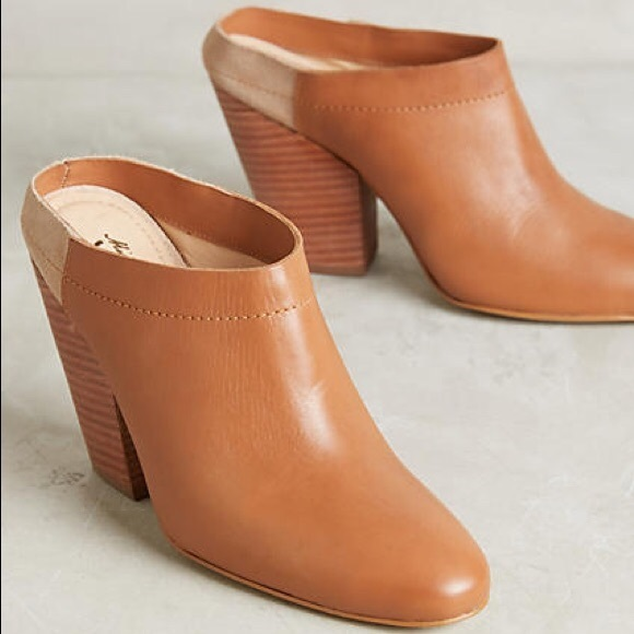 a8ed2700832d5 Miss Albright Shoes | Mule Clog Brown Anthropologie | Poshmark